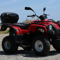 Adly Quad 200cc in red - side view